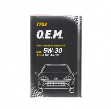 MANNOL 7703 O.E.M. for PEUGET CITROEN SAE  5W-30 A5/B5