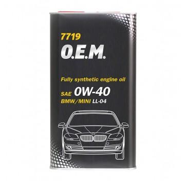 7719 O.E.M. for BM SAE 0W-40 API SN/CF